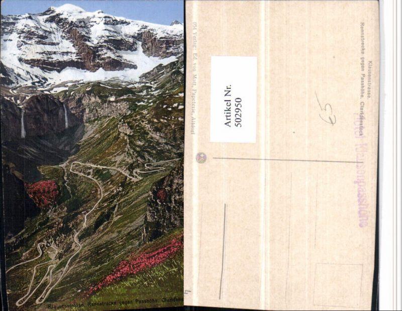 502950,Klausenstraße b. Unterschächen Claridenstock Bergkulisse Kt Uri