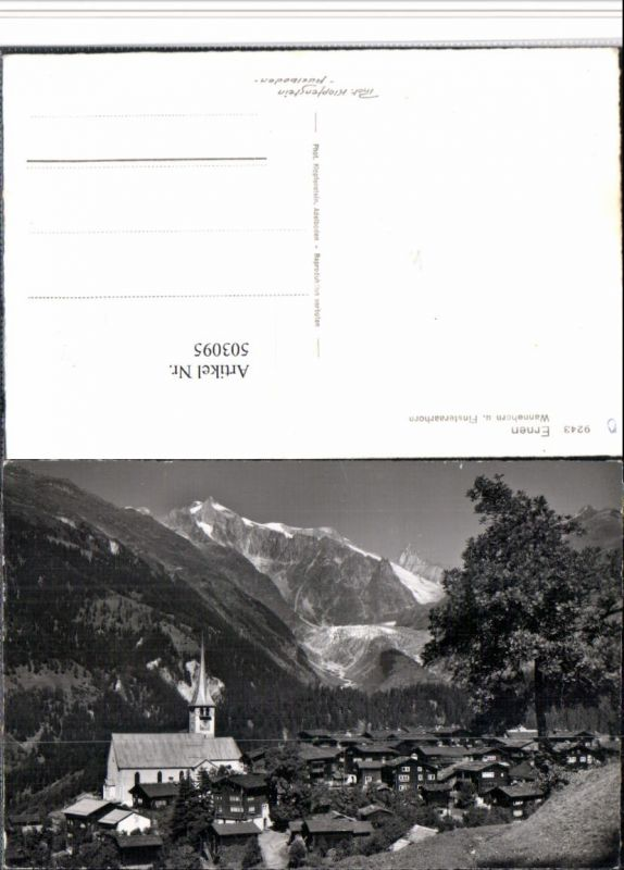 503095,Ernen Totale m. Wannehorn u. Finsteraarhorn Bergkulisse Kt Wallis