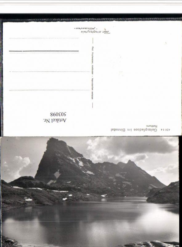 503098,Geisspfadsee See im Binntal b. Binn Bergkulisse Kt Wallis
