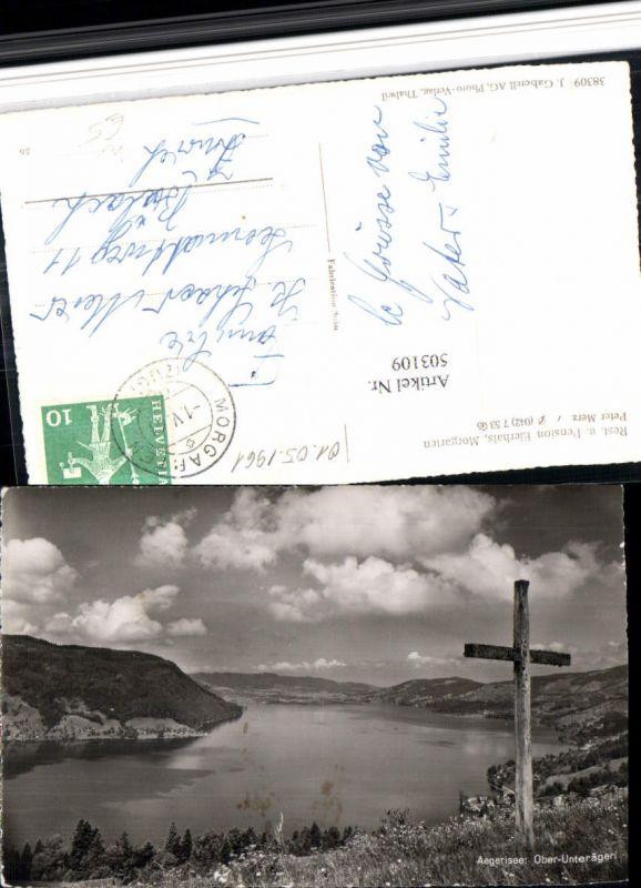 503109,Aegerisee See b. Ober- u. Unterägeri Kreuz Kt Zug