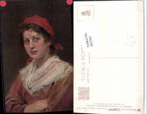 503769,Künstler AK Oscar Graef Frau Portrait pub Raphael Tuck 865