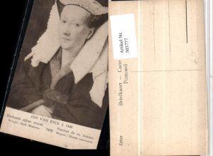 503777,Künstler AK Jan van Eyck Portrait de sa femme Frau Kopfschmuck