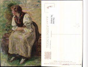 503792,Künstler AK Oscar Graef Frau Tracht pub Raphael Tuck 865