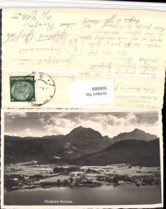 506880,Strobl am Abersee Wolfgangsee Totale Bergkulisse pub Fritz Gastberger
