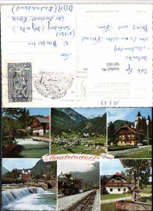 507182,Mauterndorf Totale Wehr Eisenbahn Lok Brunnen Mehrbildkarte