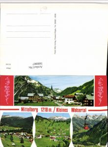 508907,Mittelberg im Kleinwalsertal Totale Seilbahn Mehrbildkarte