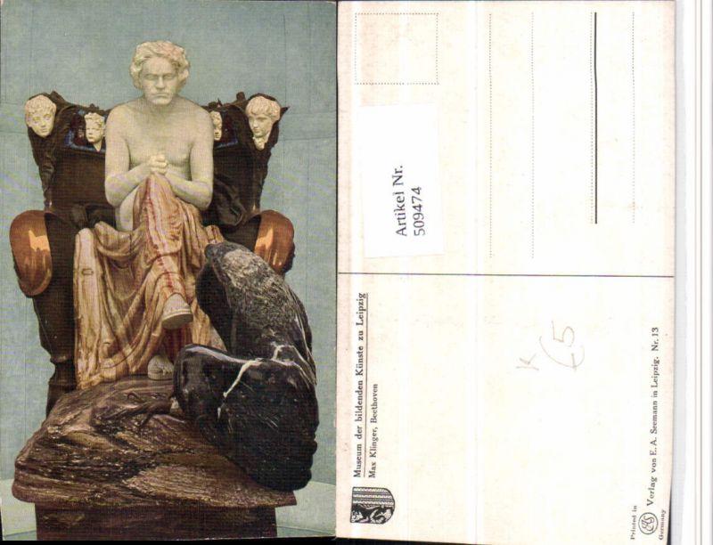 509474,Künstler AK Max Klinger Beethoven Statue