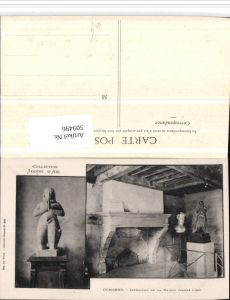 509496,Domremy Maison Jeanne d'Arc Statue Kamin Mehrbildkarte