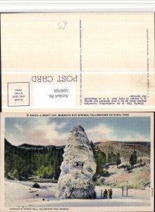 509769,Wyoming Yellowstone National Park Mammoth Hot Springs Liberty Cap Felsen