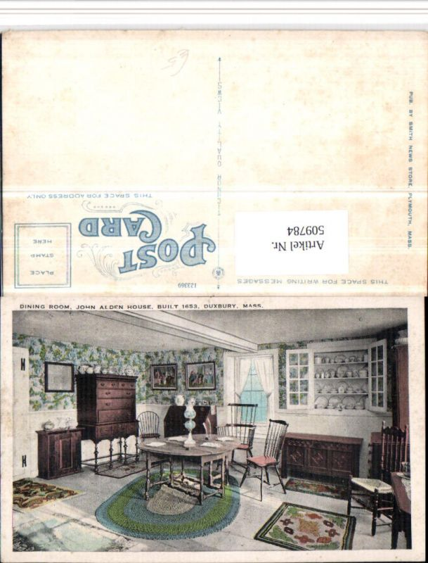 509784,Massachusetts Duxbury John Alden House Dining Room Innenansicht