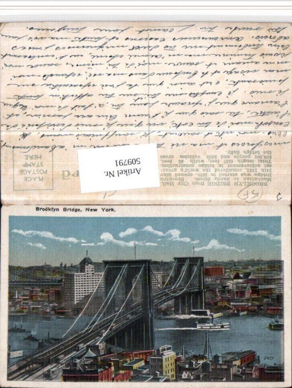 509791,New York Brooklyn Bridge Brücke Teilansicht
