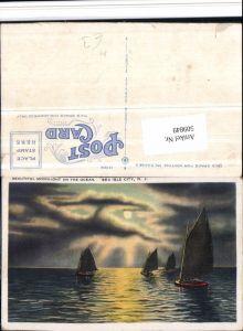 509849,New Jersey Sea Isle City Ocean Meer Segelboote Mondschein