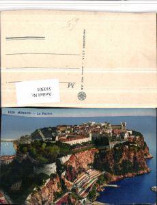 510301,Monaco Le Rocher Totale Küste