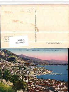 510302,Monaco Monte-Carlo Vue generale prise de Monaco Totale Bergkulisse