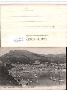 510312,Monaco La Condamine et le Port Totale Segelschiffe