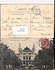 510315,Monaco Monte-Carlo Le Casino Palmen