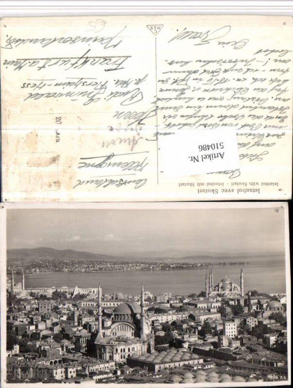 510486,Turkey Istanbul avec Skutari Teilansicht Moscheen
