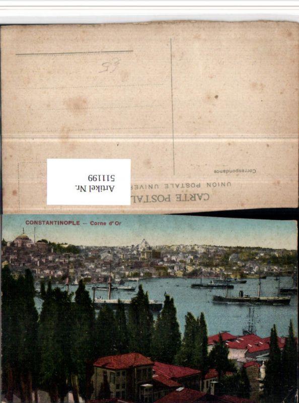 511199,Turkey Constantinople Konstantinopel Corne d'Or Teilansicht
