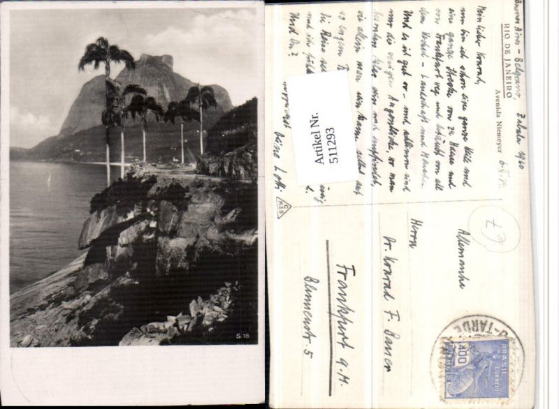 511293,Brazil Rio de Janeiro Avenida Niemeyer Küste Palmen