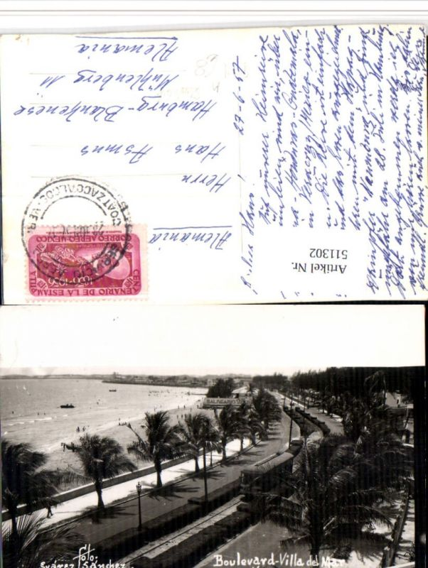 511302,Mexico Veracruz Boulevard Villa del Mar Strand Straßenbahn