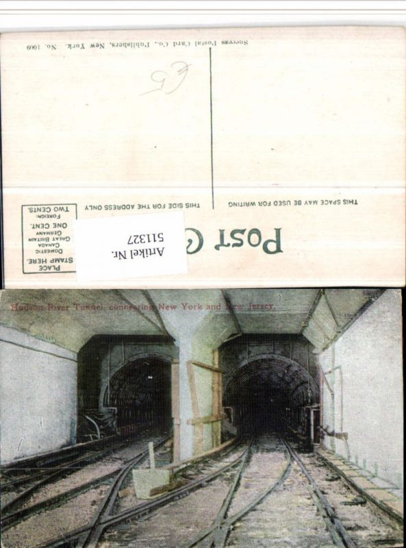 511327,New York Hudson River Tunnel connecting New York and New Jersey