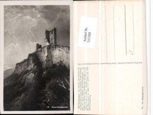 511358,Künstler AK N. Astudin Ruine Drachenfels b. Königswinter am Rhein