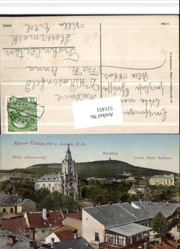511451,Bad Vöslau Kirche Hotel Schweizerhof Grand Hotel Bellevue