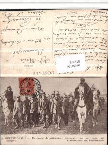 512776,WW1 convoi prisonniers allemands sur la route Nieuport POW Kriegsgefangene