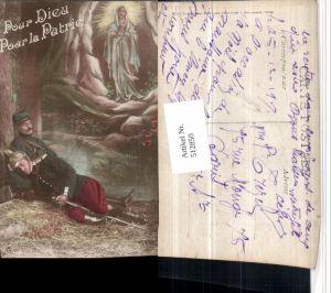 512850,WW1 Pour Dieu Pour la Patrie Soldatenleben Soldaten schlafen Heilige