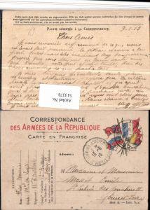 513378,Stempel Carte en Franchise Armees de la Republique 1915