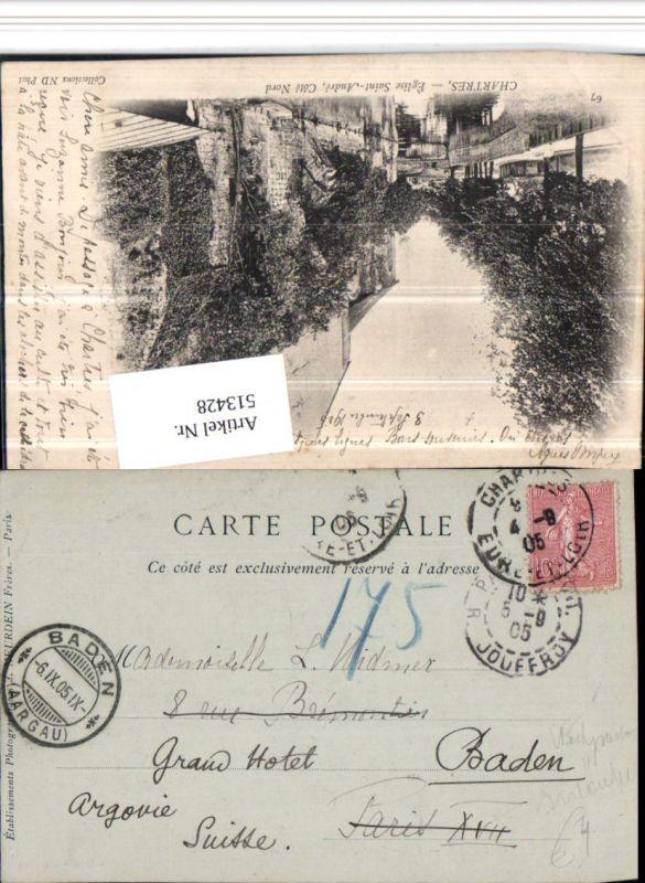 513428,Stempel Chartres 1905 Nachgebühr Nachporto 175 Irrläufer