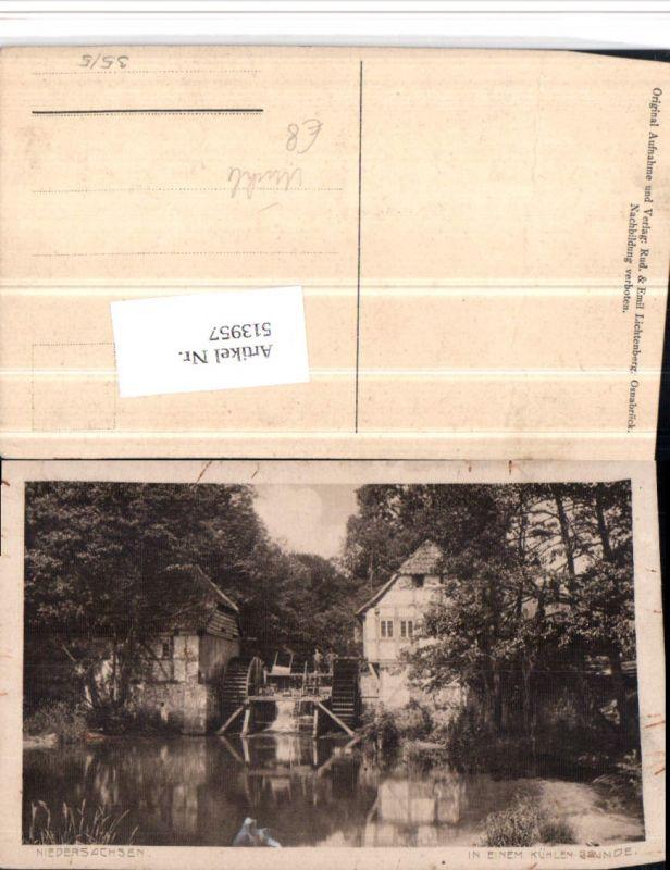 513957,Niedersachsen In einem kühlen Grunde Wassermühle Mühle
