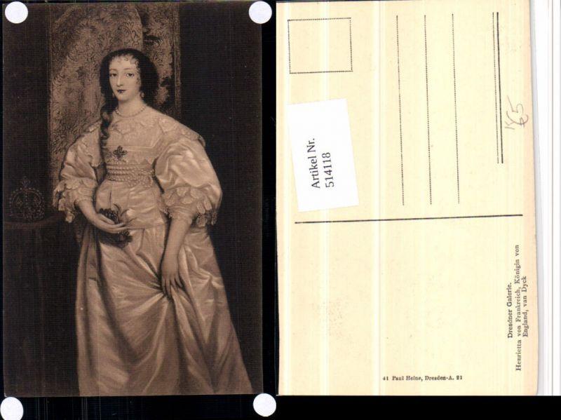 514118,Künstler AK Van Dyck Henrietta von Frankreich Königin von England Adel