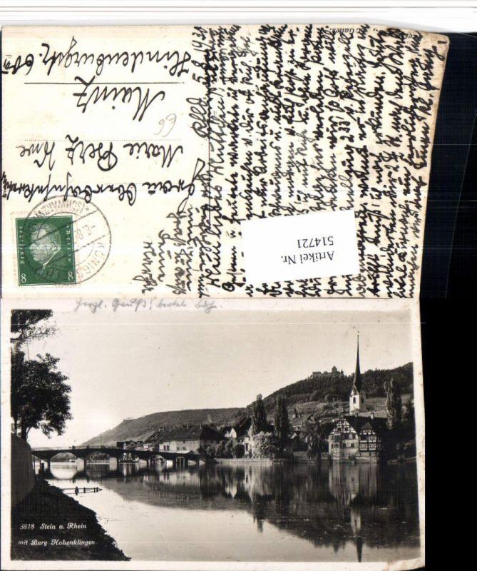514721,Stein am Rhein Teilansicht Brücke m. Burg Hohenklingen Kt Schaffhausen