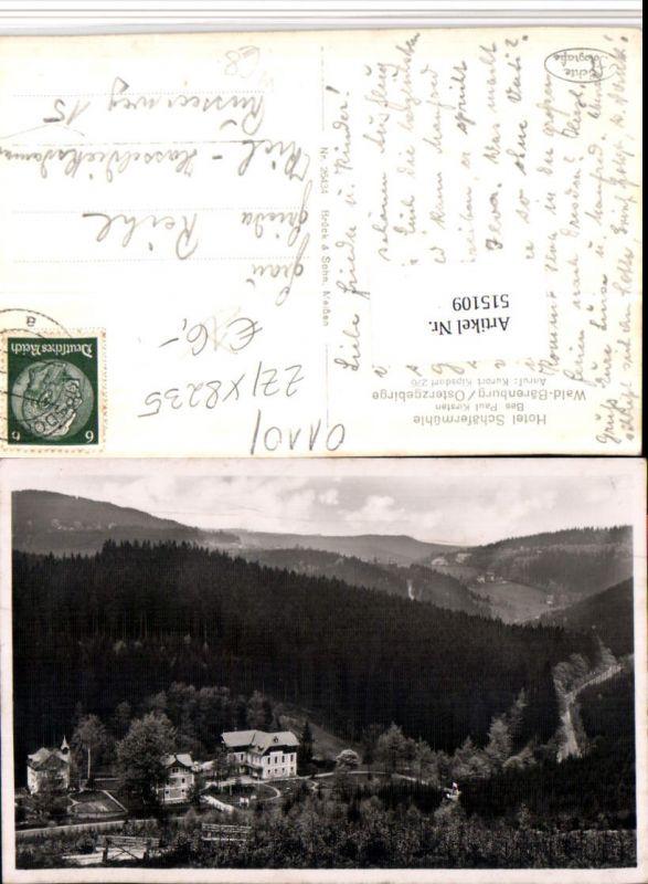 515109,Wald-Bärenburg im Osterzgebirge b. Altenberg Hotel Schäfermühle 0