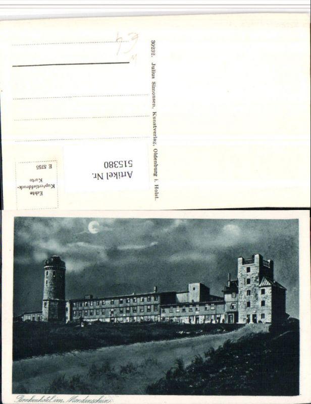 515380,Brockenhotel b. Schierke Aussichtsturm Mondschein