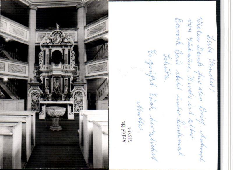 515714,Foto Stolberg im Harz Kirche Innenansicht Taufbecken pub Foto Wiedling