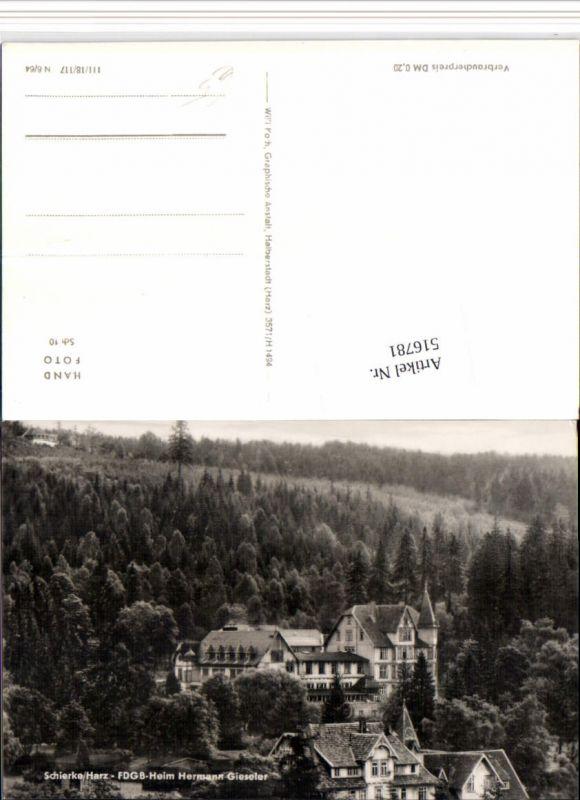 516781,Schierke im Harz FDGB-Heim Hermann Gieseler