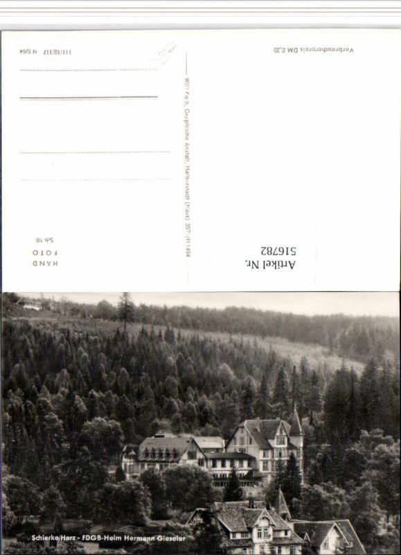 516782,Schierke im Harz FDGB-Heim Hermann Gieseler