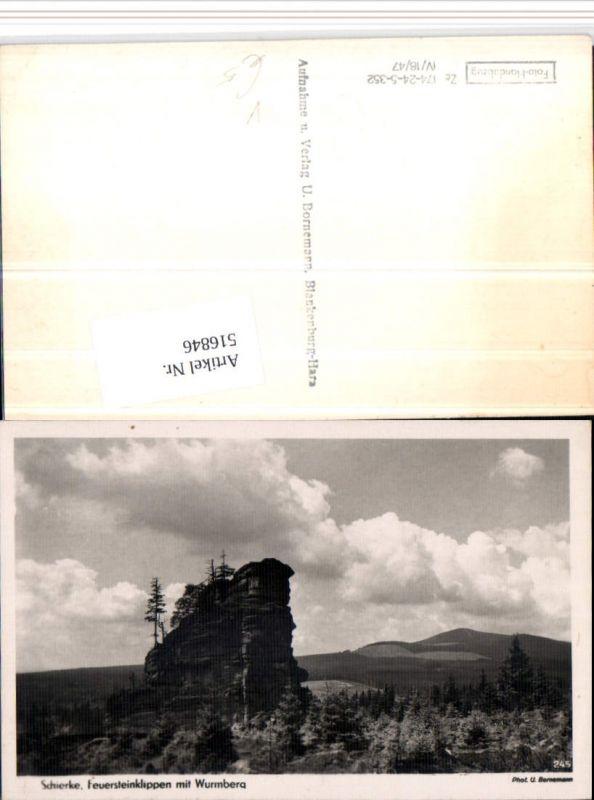 516846,Schierke im Harz Feuersteinklippen m. Wurmberg pub U. Bornemann 245