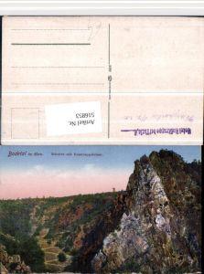 516853,Bodetal im Harz b. Thale Schurre m. Rosstrappefelsen Felsen
