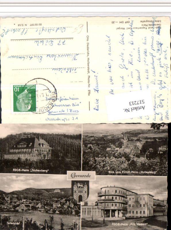 517213,Gernrode Totale Heime Stubenberg Fritz Heckert Mehrbildkarte