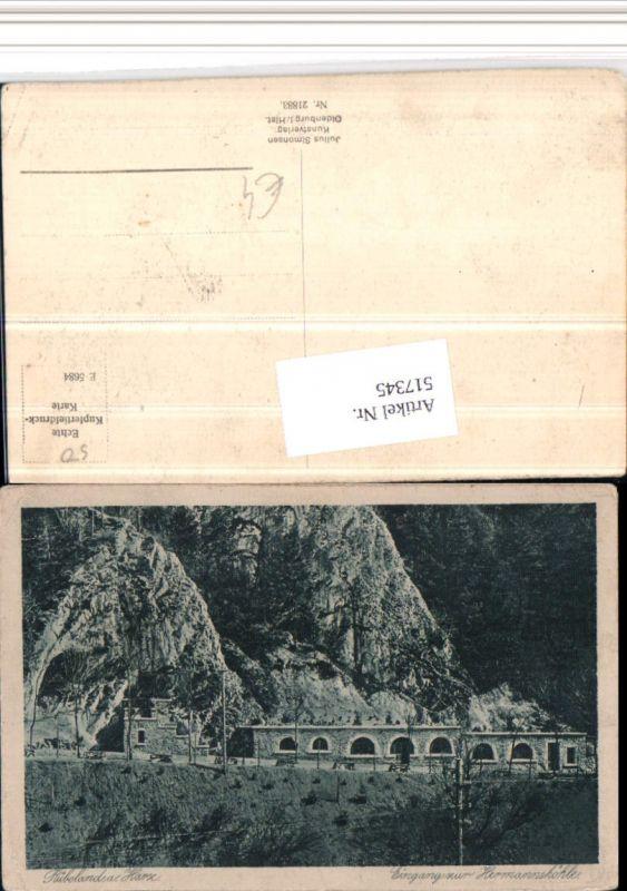 517345,Rübeland b. Oberharz am Brocken Eingang zur Hermannshöhle