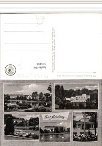 517483,Bad Meinberg Kurpark Brunnen Sanatorium Mehrbildkarte