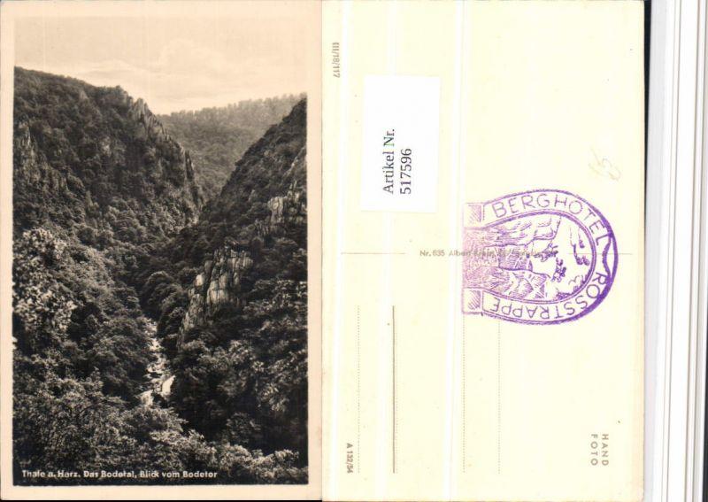 517596,Thale am Harz Bodetal Blick vom Bodetor