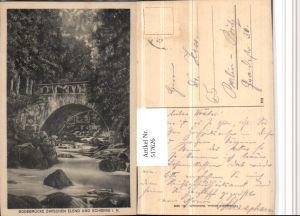 517626,Bodebrücke Brücke zwischen Elend u. Schierke im Harz