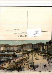 517952,Straßenbahn Marseille Le Quai Fraternite Reklame Liqueur Benedictine