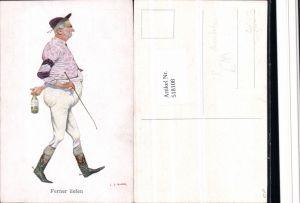 518108,Künstler Ak C.F. Bauer Scherz Humor Karikatur Polo Reitsport Ferner liefen