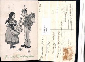 518116,Scherz Humor Neujahr Frau Schweine Mann Pfeife
