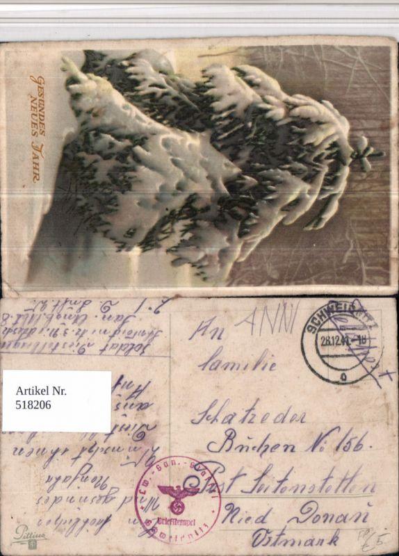 518206,WK 2 Feldpost Landwehr San. Schweidnitz n. Seitenstetten Buchen